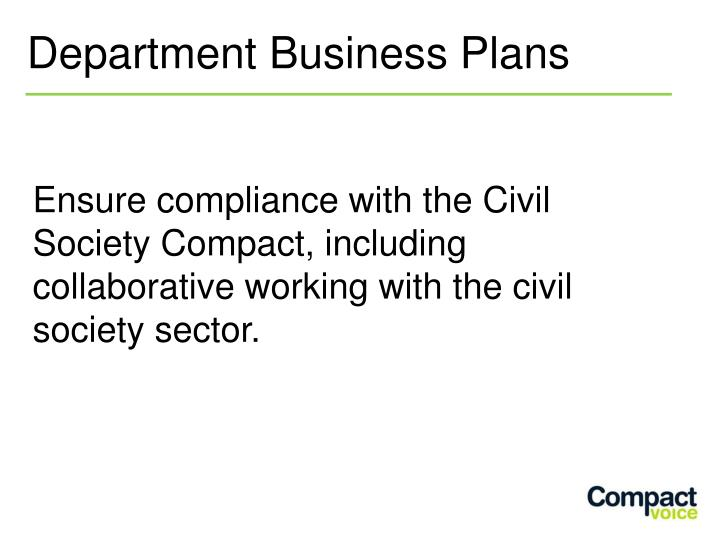 Department Business Plans