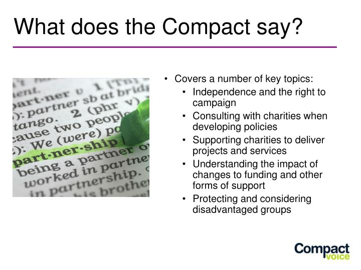 What does the Compact say?