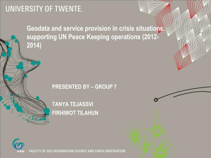 presented by group 7 tanya tejassvi firhiwot tilahun n.