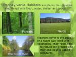 pennsylvania habitats are places that provides living things with food water shelter and space