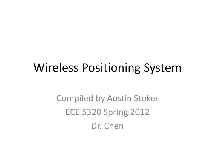 wireless positioning system n.
