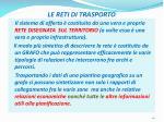 le reti di trasporto