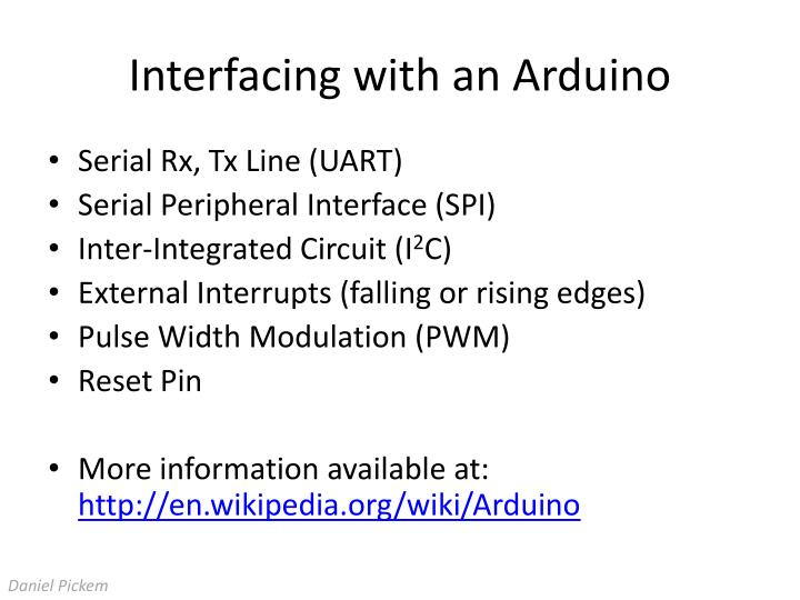 Interfacing with an