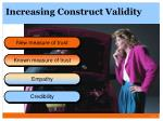 increasing construct validity