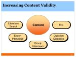 increasing content validity