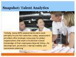snapshot talent analytics