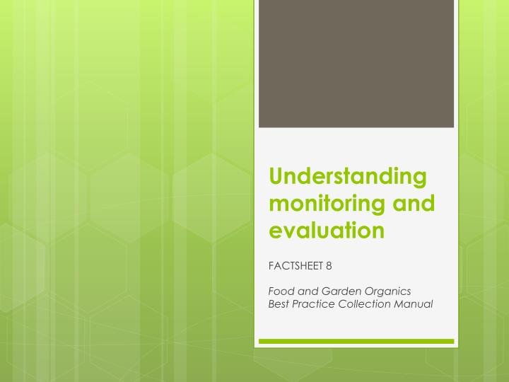 understanding monitoring and evaluation n.