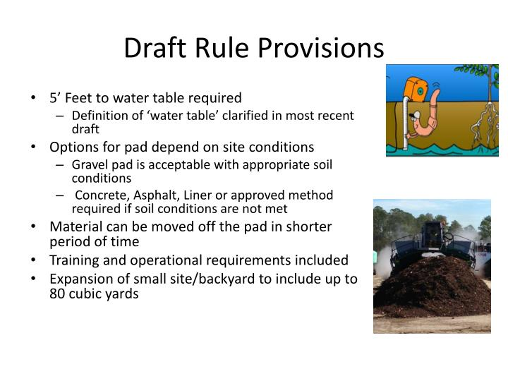 Draft Rule Provisions
