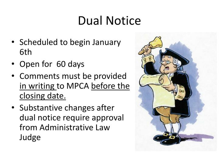 Dual Notice