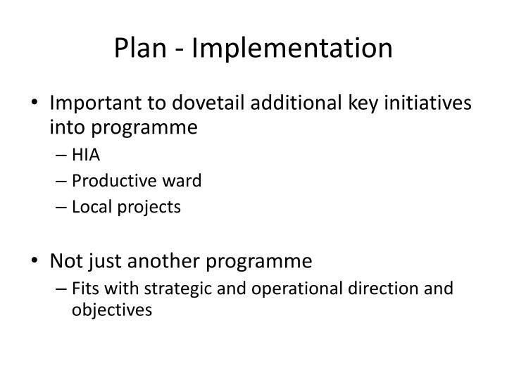 Plan - Implementation