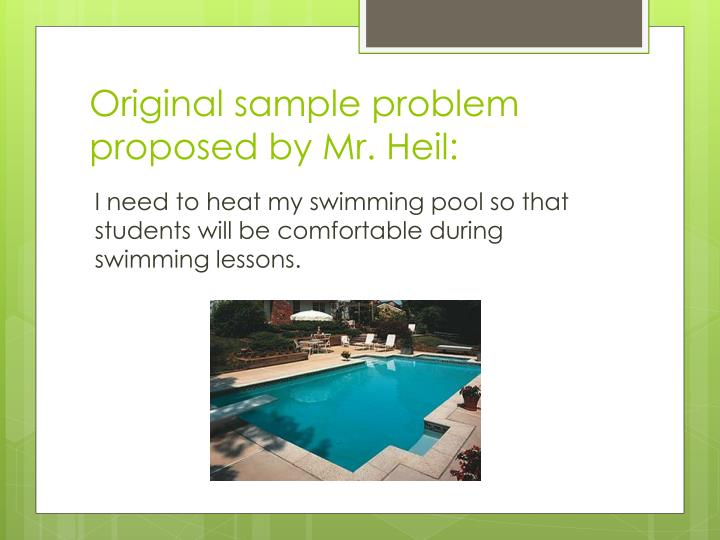 Original sample problem proposed by Mr.