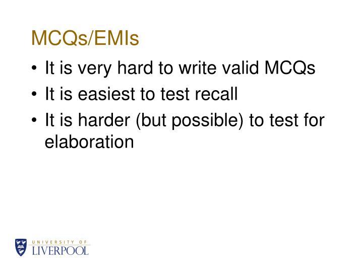 MCQs/EMIs
