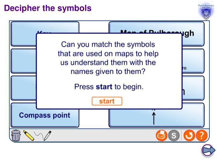 Decipher the symbols