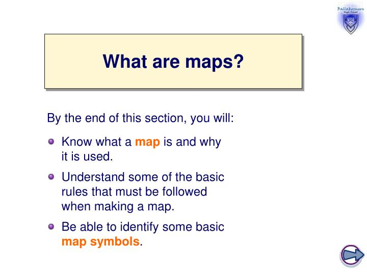 What are maps