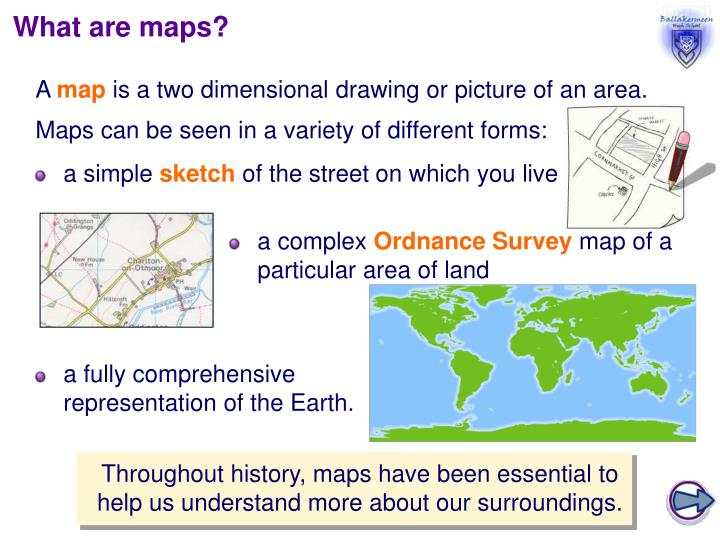 What are maps?