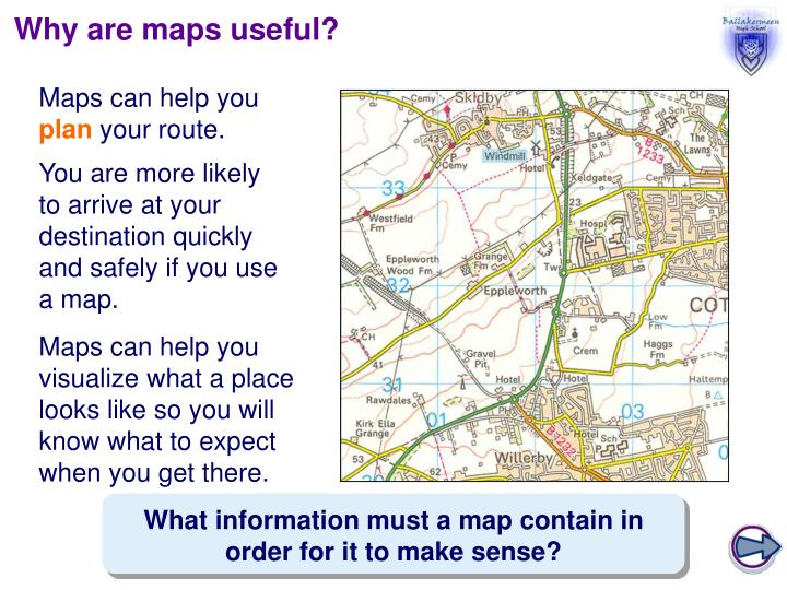 Why are maps useful?