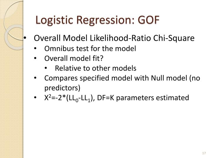 Logistic Regression: