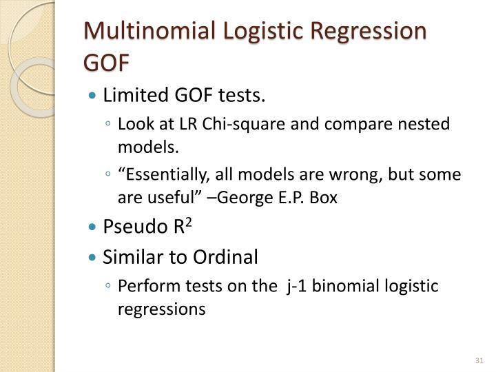 Multinomial Logistic Regression GOF