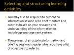selecting and structuring learning activities2