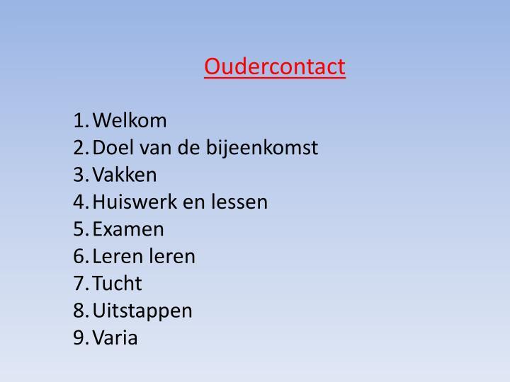 Oudercontact