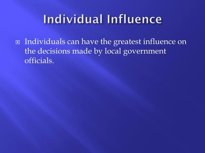 Individual Influence