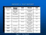 report 2 test report