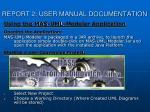 report 2 user manual documentation