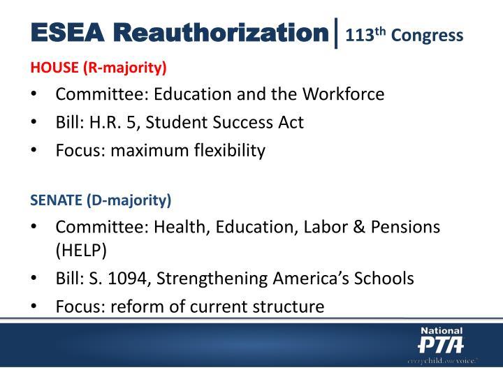 ESEA Reauthorization│