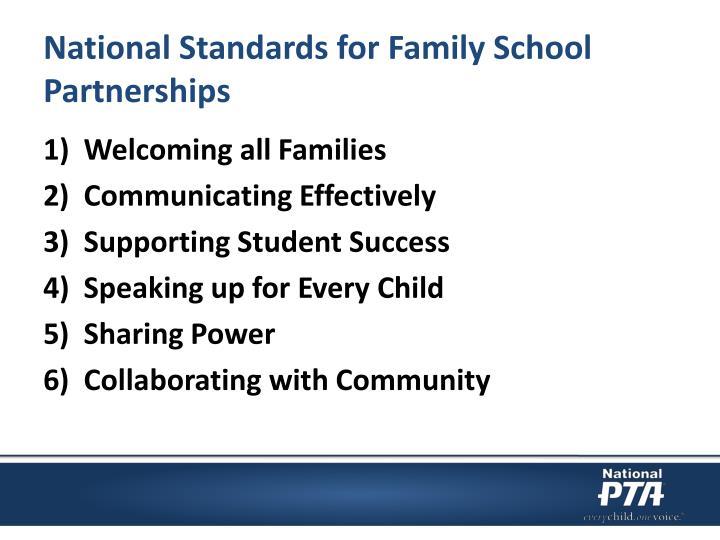 National Standards for Family School Partnerships