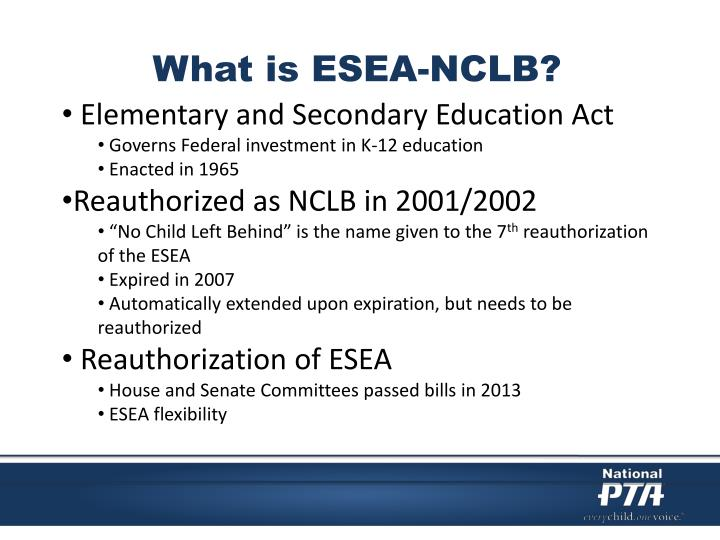 What is ESEA-NCLB?