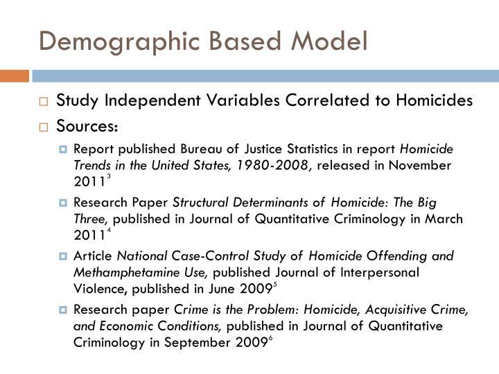 Demographic Based Model