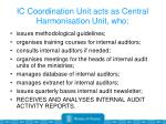 ic coordination unit acts as central harmonisation unit who