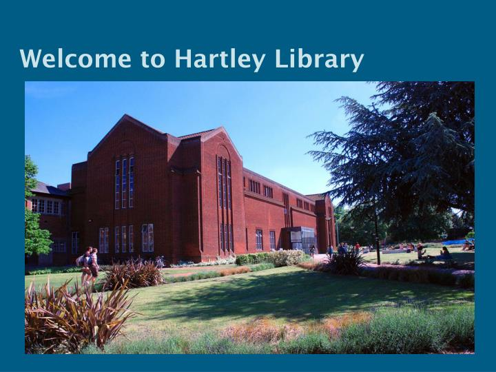 welcome to hartley library n.