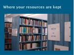where your resources are kept