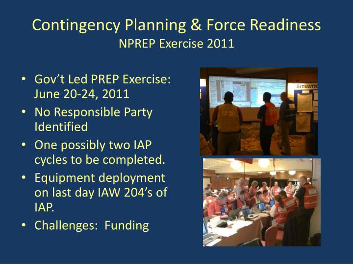Contingency Planning & Force Readiness