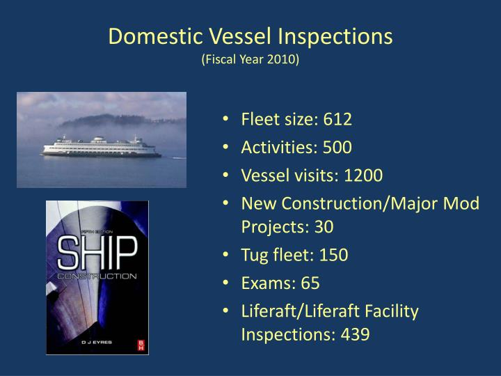 Domestic Vessel Inspections