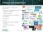 partners and stakeholders