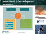 work stream 1 and 4 integration newcastle