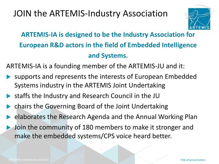 Join the artemis industry association
