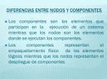 diferencias entre nodos y componentes