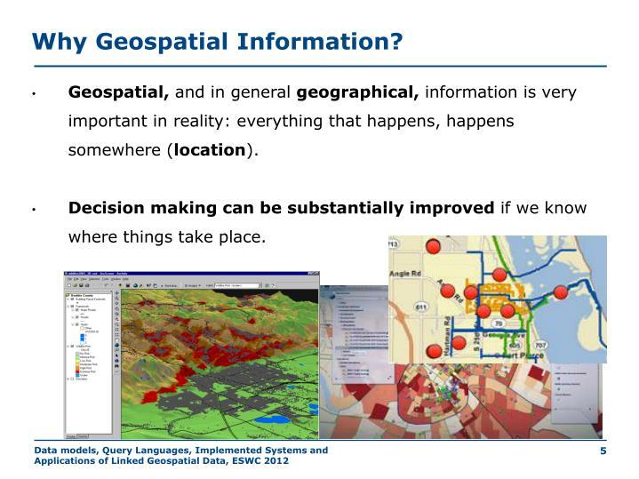 Why Geospatial Information?