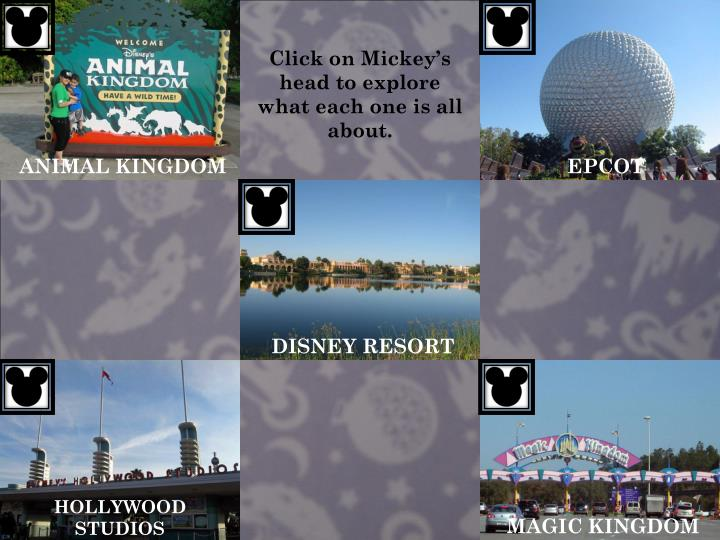 Click on Mickey's head to explore what each one is all about.