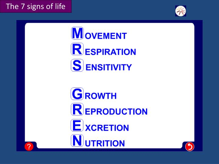 The 7 signs of life