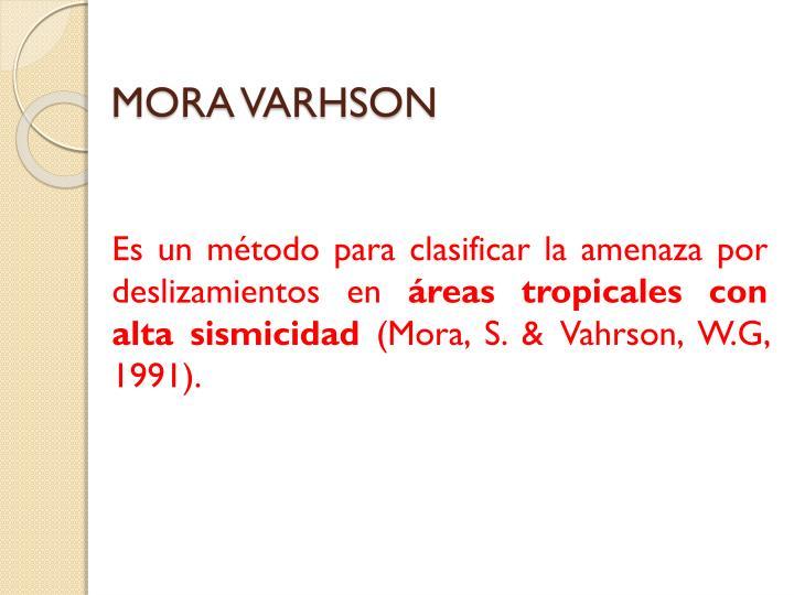 MORA VARHSON