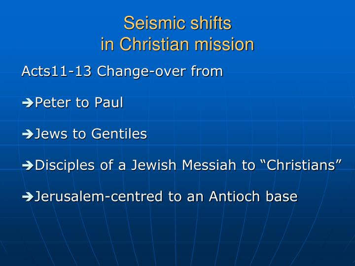 Seismic shifts in christian mission1