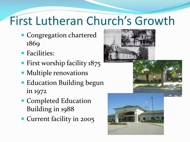 First lutheran church s growth