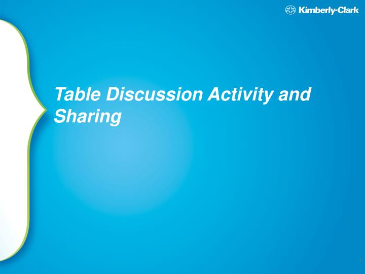 Table Discussion Activity and Sharing