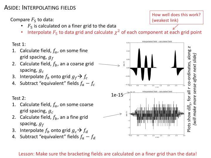 Aside: Interpolating fields