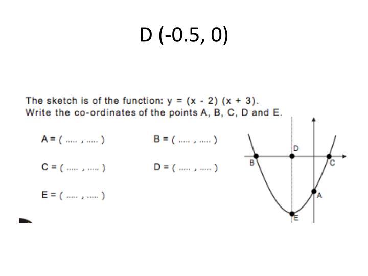 D (-0.5, 0)