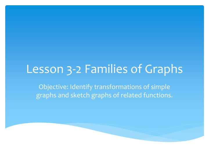 Lesson 3 2 families of graphs